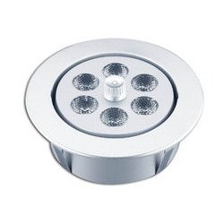 PLAFONNIER ROND CHROMÉ À LED 12V. 85 MM x 25 H -12 LED